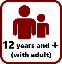 12 years and more (12-14 under the supervision of an adult)
